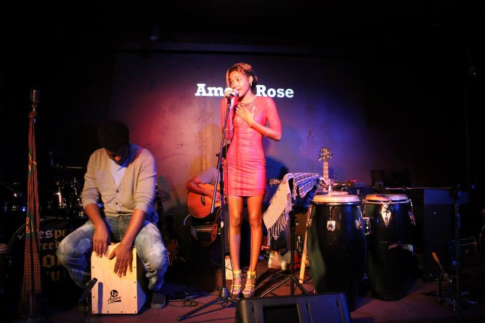 Amora Rose performs at the Chewstick Neo-Griot Lounge